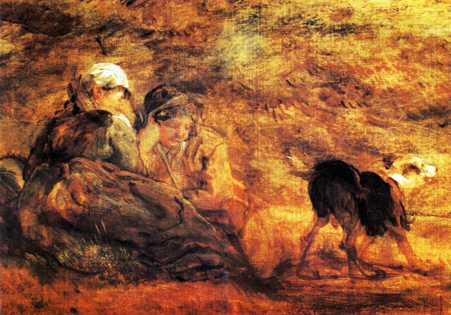 85. Рыночная  повозка. Фрагмент. 1786/87. X., м. Лондон, Галерея Тейт