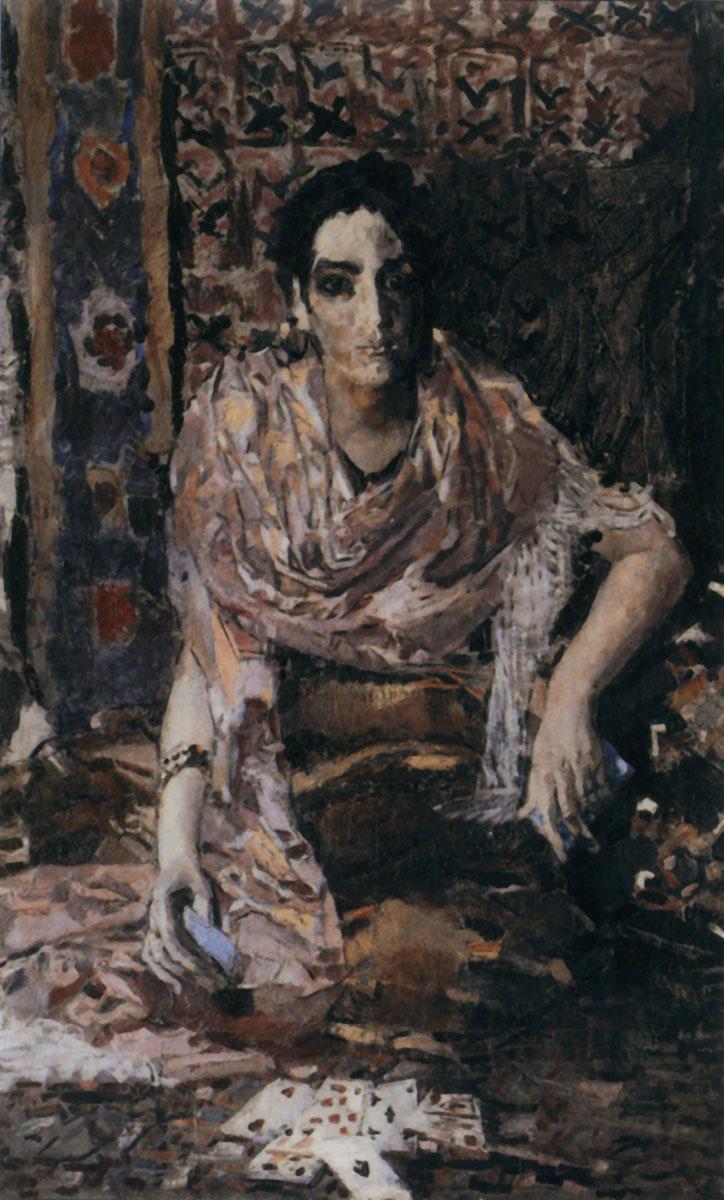 Обои картина, Украинская Ночь, свидание, масло, Николай Пимоненко, холст. Разное foto 9